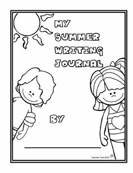 Summer Writing Journal Kindergarten 1st 2nd Grade by