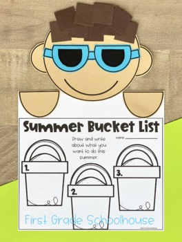 Summer Writing for First Grade by First Grade Schoolhouse