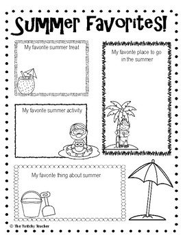 Summer is Almost Here! End of the Year Activity Pages by