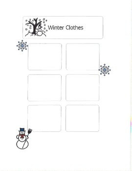 Summer or Winter Clothing Sort- File Folder Activity by