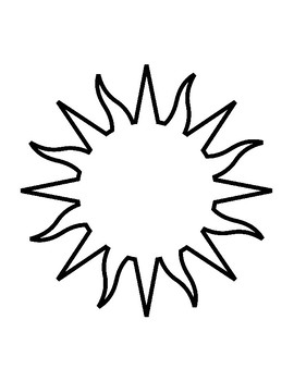 Sun Template for Art Project Sun Coloring Page Sun Outline
