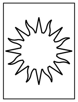 Sun Templates for Art Project Sun Coloring Pages Sun