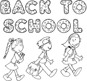 Super Cute HUGE back to school poster that kids can color