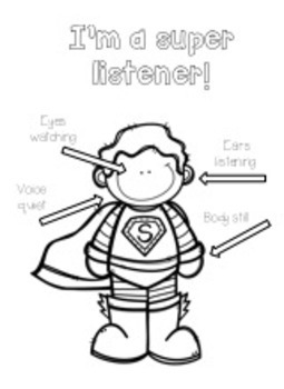Super Listener Coloring Page by Bright Futures Counseling