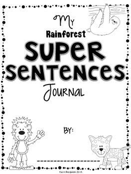 Super Sentences! RAINFOREST Freebie Writing Pack by Kerri