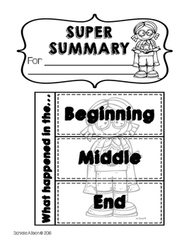 Super Summary & Story Structure Activities by Once Upon
