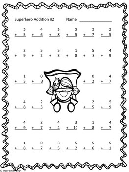 Superhero Addition/Subtraction BUNDLE! Grade K-3 No Prep