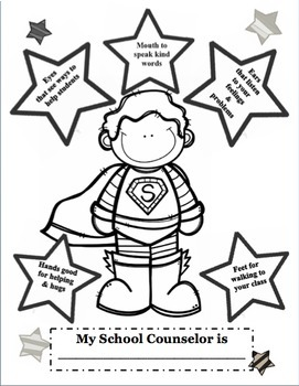 Superhero Meet the School Counselor Introduction Guidance
