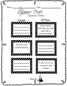 Supermom Mother's Day Fluency Passage and Comprehension