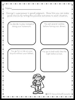 Superpower Character Trait Activity Sheets- Savvy School