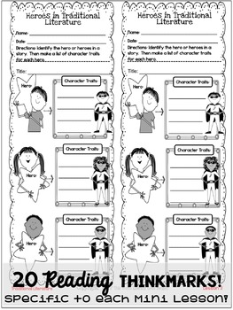 Supplemental Printables for the unit:'Traditional