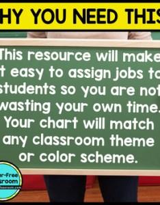 Job chart editable for classroom jobs also by clutter free tpt rh teacherspayteachers