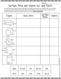Surface Area and Volume of Prisms and Cylinders Cut and ...