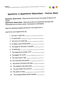 Quanive And Qualitive Worksheet 6th Grade Math Homework Quanive Best Free Printable Worksheets