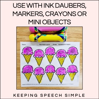 Sweet Speech No Prep Articulation Worksheets By Keeping