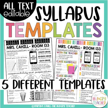 Syllabus and Meet the Teacher Editable Infographic