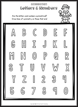 Symmetry Worksheets and Symmetry Activities by Isla Hearts