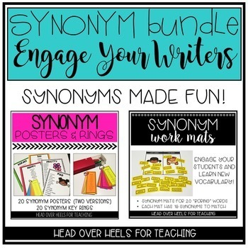 Synonym Bundle-Engage Your Writers! by Joanne Miller | TpT