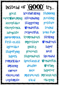synonym posters can you