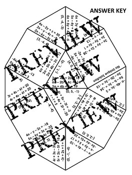 Systems of Equations with 3 Variables Elimination Puzzle