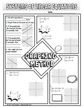 Systems of Equations No Prep FUN Notes Doodle Pages by