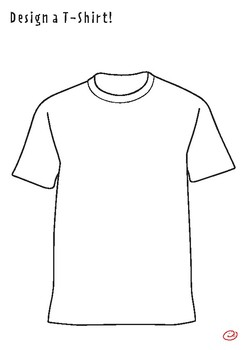 T-shirt Coloring Page and Drawing Activity by Silly Billy