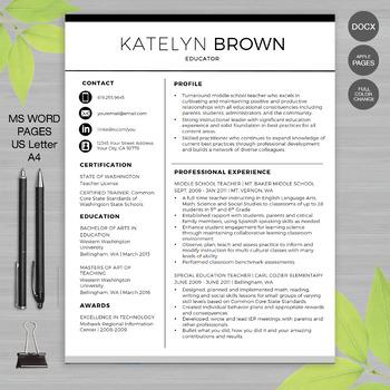 Resume For Educators