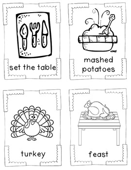 THANKSGIVING WORD BANK AND CARDS FREEBIE by The Phonics