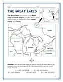 Printable Map Of Great Lakes : printable, great, lakes, Great, Lakes, Worksheet, Teachers