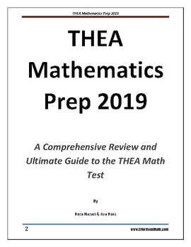 THEA Mathematics Prep 2019: A Comprehensive Review by
