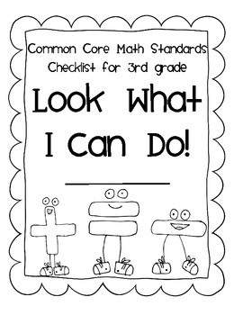 THIRD Grade I CAN STUDENT CHECKLIST for Common Core Math