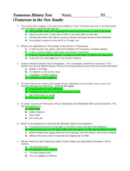 TN History Unit 8 Bundle: