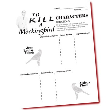 TO KILL A MOCKINGBIRD Characters Analyzer (by Harper Lee