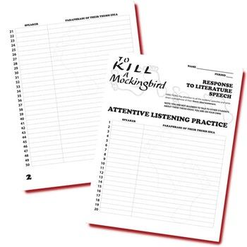 TO KILL A MOCKINGBIRD Essay Prompts & Grading Rubrics by