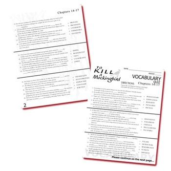 TO KILL A MOCKINGBIRD Vocabulary List and Quiz (chap 14-17