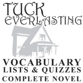 Tuck Everlasting Vocabulary Worksheets & Teaching