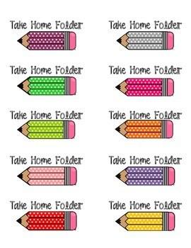 Take Home Folder Labels FREEBIE by ABSeas  Teachers Pay