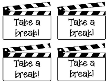 Take a Break! Student Break Cards by The Horton Teaching