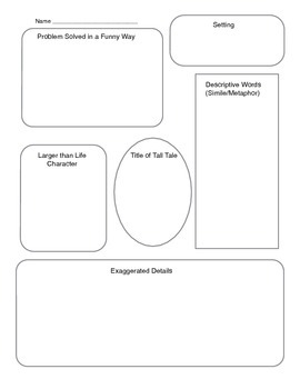 Tall Tales writing graphic organizer by Best is yet to be