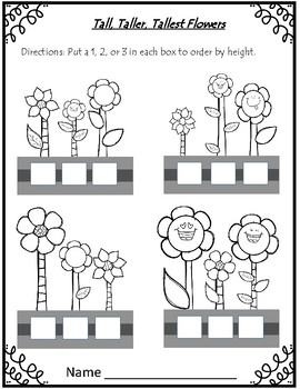 Tall, Taller, Tallest & Short, Shorter, Shortest ~ Flower