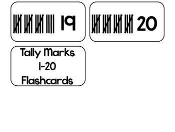 Tally Marks printable Flashcards. Math flashcards. by