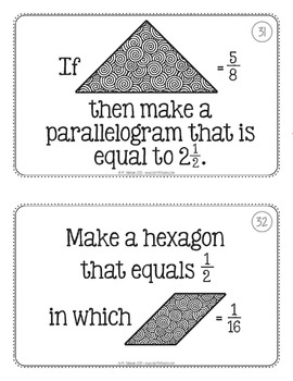 Tangram Fraction Task Cards Math Centers by Teacher Thrive