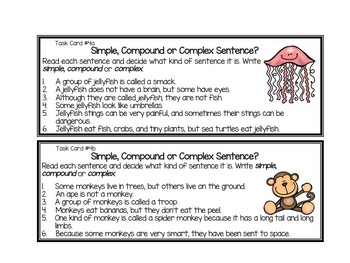Simple Compound and Complex Sentences by A Classroom for