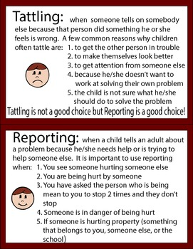 Tattling Or Reporting