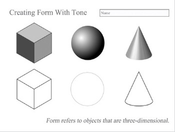 Teaching Tone Amp Shading Worksheets By The Arty Teacher