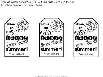 Teacher Appreciation Label {lemon themed} editable FREE by