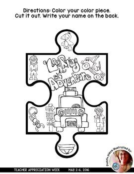 Teacher Appreciation Week Puzzle Pieces by Bluebird