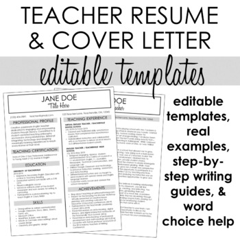 Teacher Resume & Cover Letter Template #2 + Step-by-Step