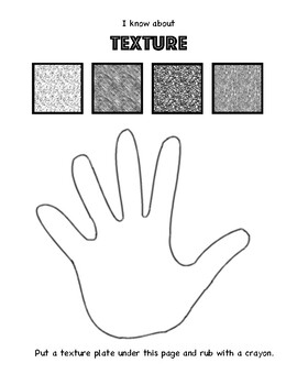 Teaching Texture Interactive Notebook. Art Worksheet