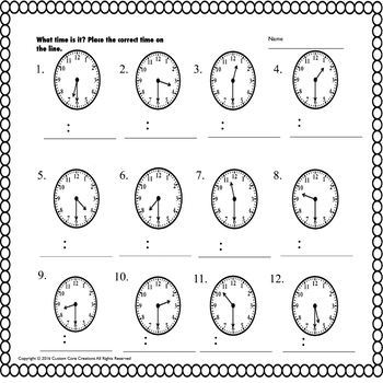 Telling Time Activities (Telling time) by Custom Core